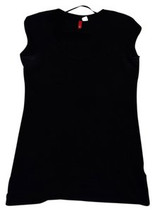 H&M Scoop Neck Cotton T Shirt Black