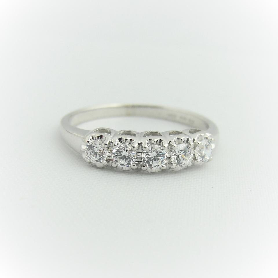 gold diamond wb bands platinum prong band in eternity cttw each single cts white pave