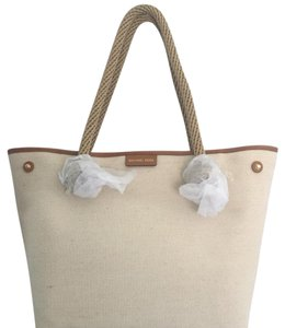 7ef51ebdacb7 Michael Kors Rosalie Md East West Four-weave Leather Gold Straw Tote ...