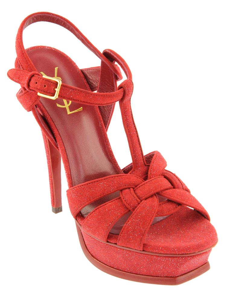 Saint Laurent Red Tribute Quartz Sandals Sandals Quartz c22414