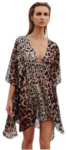Vitamin A Leopard Limelight Swim Cover-up