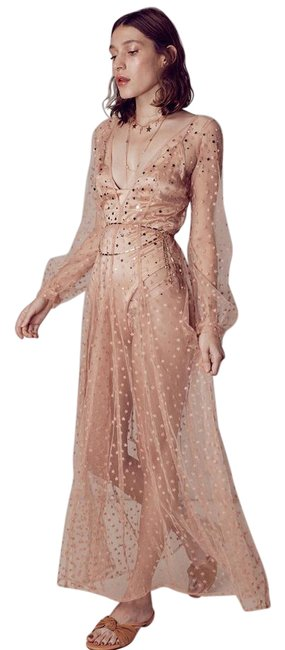 Item - Blush All That Glitters Maxi Long Night Out Dress Size 4 (S)