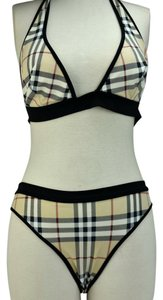 b7820ed2550e2 Burberry Beige Nova Check Bikini   Swimsuit Sz  L (8 to 12)