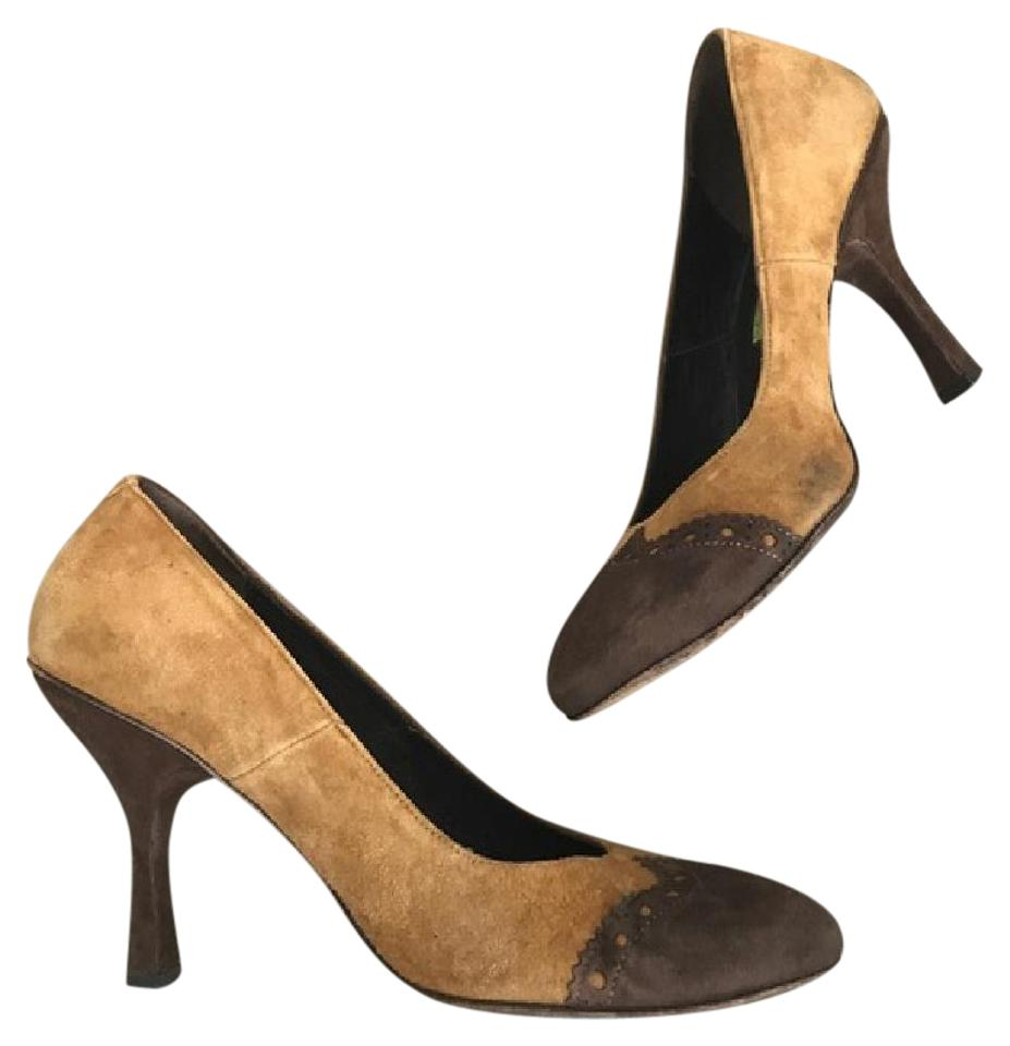 Goffredo Suede Fantini Brown and Tan Suede Goffredo Heels Pumps a81ae9