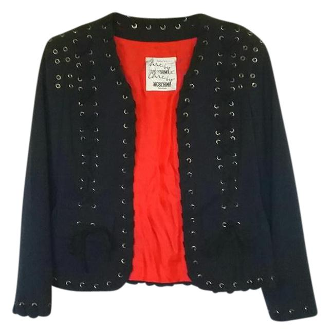 Item - Black with Red Lining Cheap and Chic Made In Italy Jacket Size 6 (S)