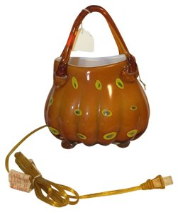 Other Art Glass Purse Lamp; Hand-Blown Purse Lamp / Night-Light [ Roxanne Anjou Closet ]