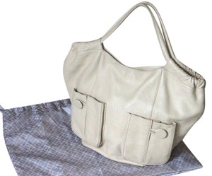 Bodhi Leather Large Hand Tote in beige