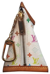 Louis Vuitton Wristlet in White Multicolor