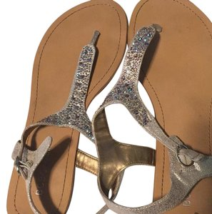 BCBGeneration sparkly light beige Sandals