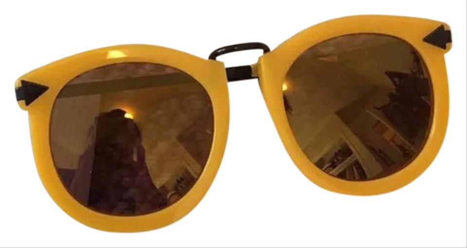 95d1629c56b7 Karen Walker Marigold and Brown Super Lunar Sunglasses - Tradesy