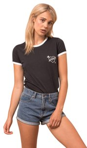46814d546e Other Black Mom Standard Fit Ringer White Tee Shirt Size 4 (S)