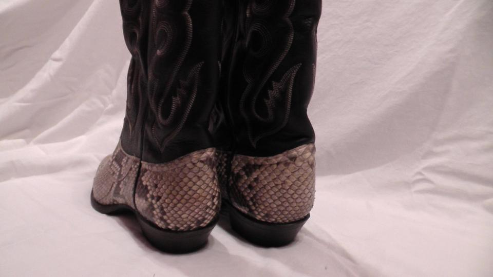 a9f15d1e26e Tony Lama Black and Grey Python 1456l Boots/Booties Size US 7 Regular (M,  B) 69% off retail