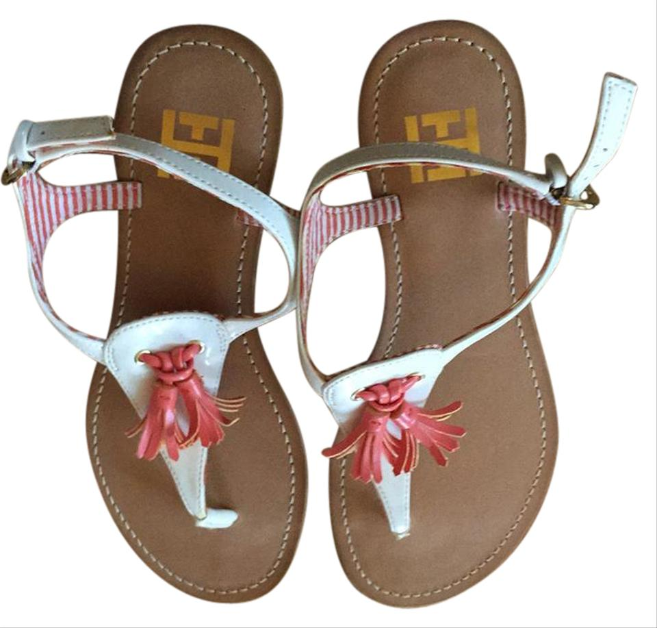 714ff794fe7a Tommy Hilfiger White and Orange Twluciere M Sandals Size US 6 ...