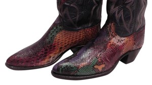 Dan Post Boots Cedar Trees Multi-colored painted snake skin Boots