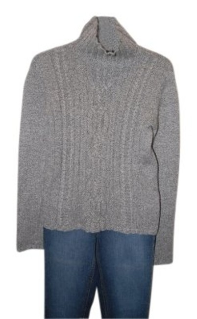 Preload https://item5.tradesy.com/images/magaschoni-grey-cashmere-cable-knit-turtlenec-sweaterpullover-size-8-m-21904-0-0.jpg?width=400&height=650