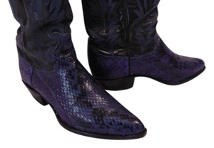 Justin Boots Cedar Trees Royal blue and black python Boots