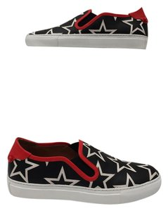 Givenchy Calf Leather Round Toe Embossed Insole Elastic Side Panels Rear Knot Details multi color Athletic