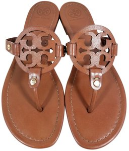 d1a3bba259999 Tory Burch Flip Flops Bold Logo Cutout Leather Made In Brazil S N 50008694  Cognac