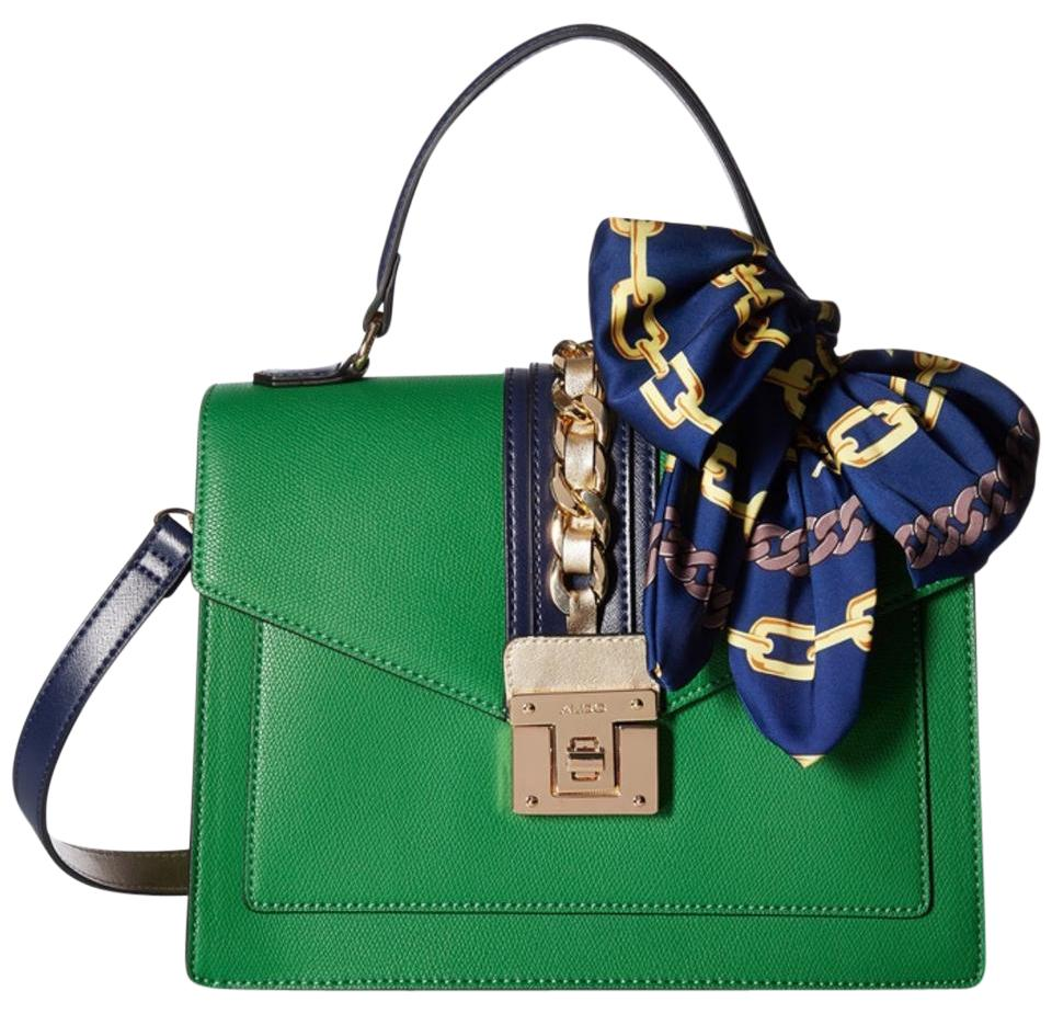 d8ba88b08d2 Aldo Scilva Green And Blue Faux Leather Satchel Tradesy
