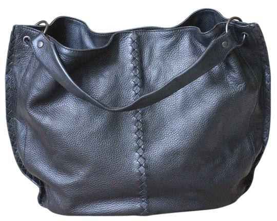 Bottega Veneta Leather Designer Large Tote in Black Image 1