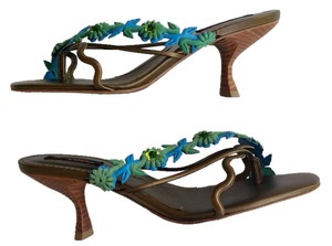 MORENATOM Thong Heels Bronze Sandals