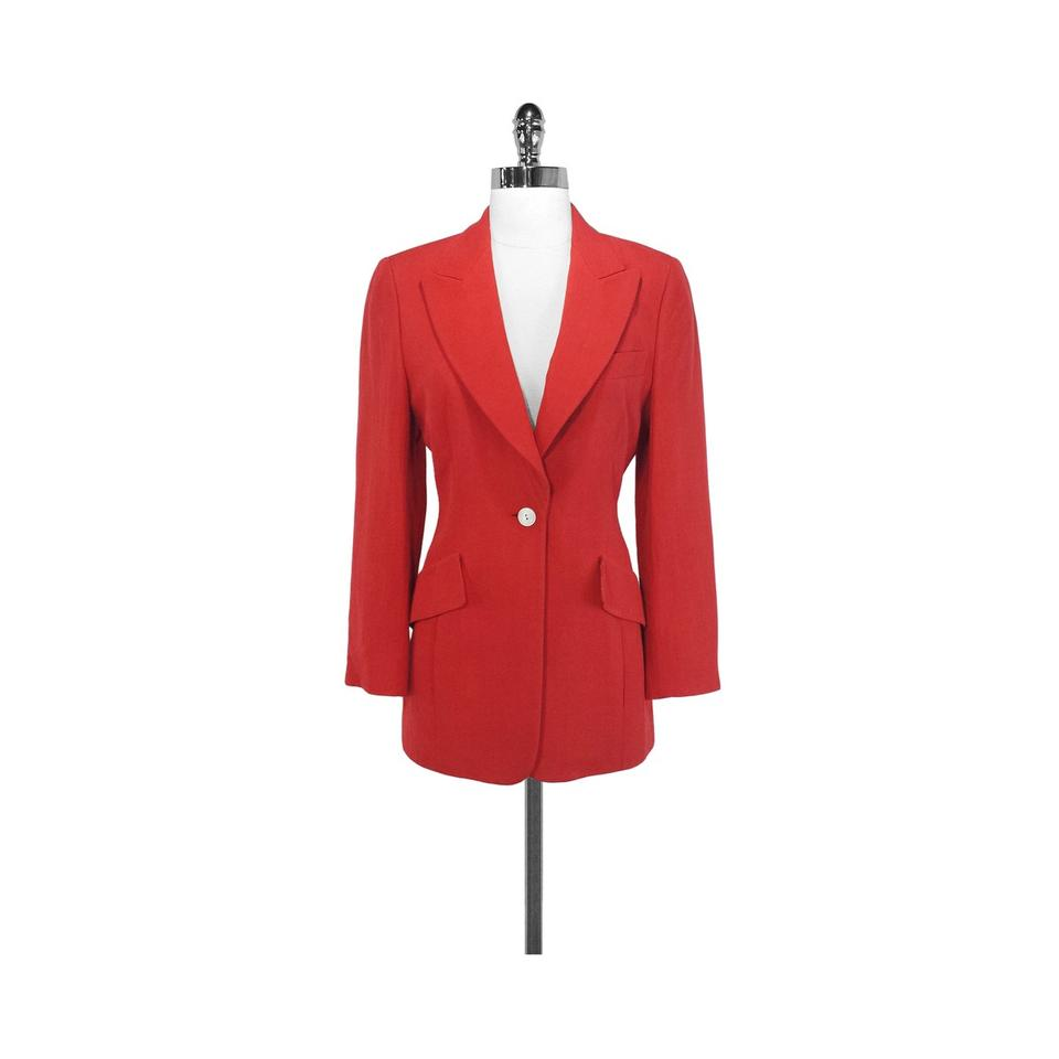 Shop red fitted jacket at Neiman Marcus, where you will find free shipping on the latest in fashion from top designers.