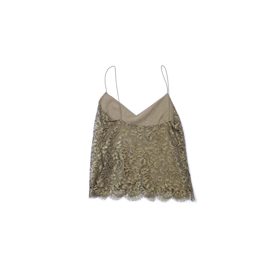 66666725673dd Ralph Lauren Gold Lace Tank Top Cami Size 4 (S) - Tradesy