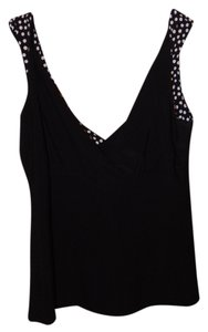 Suzie In The City Top Black with Polka Dots