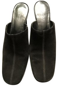 Rockport Wedge Suede Comfortable Black Mules