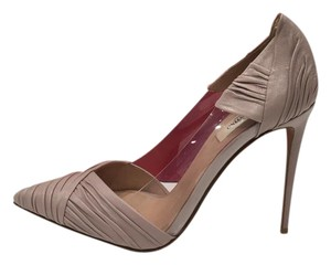 bdc2a865bb04 Added to Shopping Bag. Valentino Draped Leather Pointed Toe Transparent  Sides Made In Italy poudre Pumps