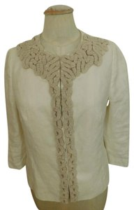 Boden BODEN LIMITED EDITION 100% Linen Short Cropped 3/4 Sleeve Jacket