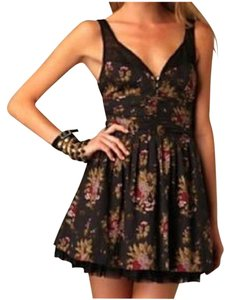 Free People short dress Multi Retro Vintage Mini Floral Couture on Tradesy