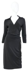 Laundry by Shelli Segal short dress Black 3/4 Sleeve Wrap on Tradesy