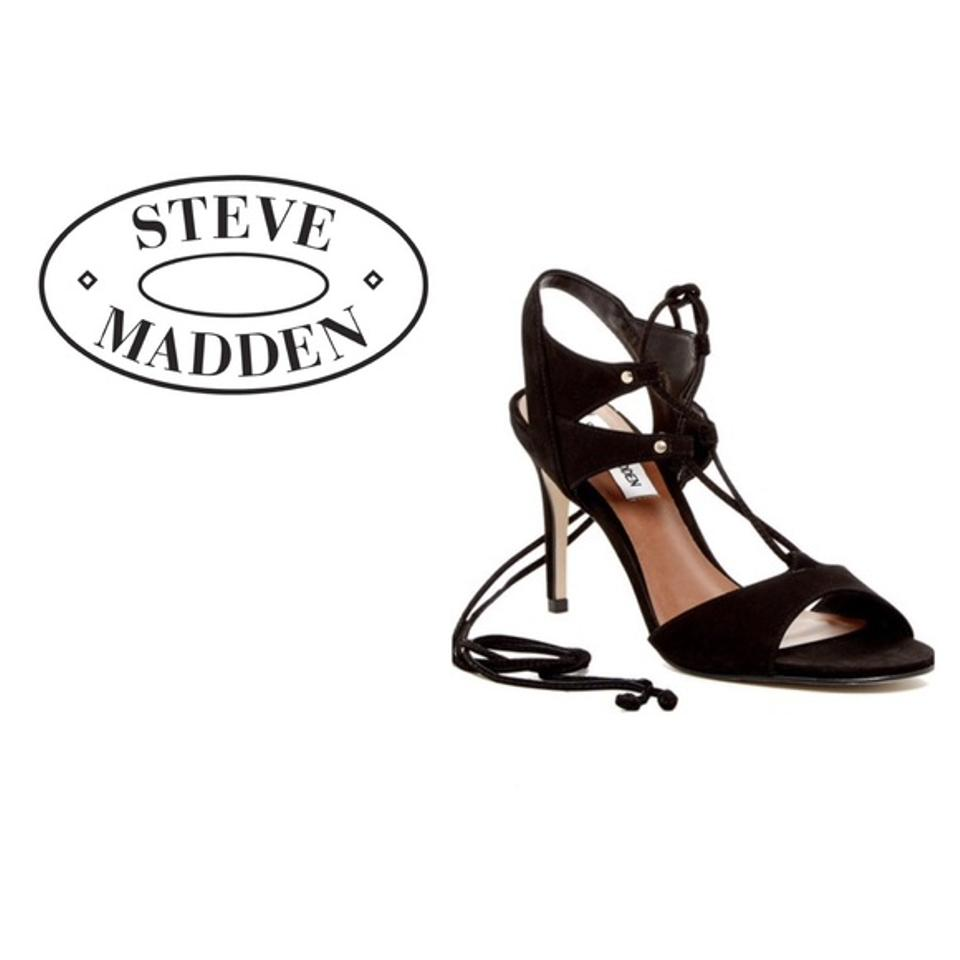 best sneakers another chance first look Steve Madden Black Selma Lace-up Sandals Size US 9.5 Regular (M, B ...