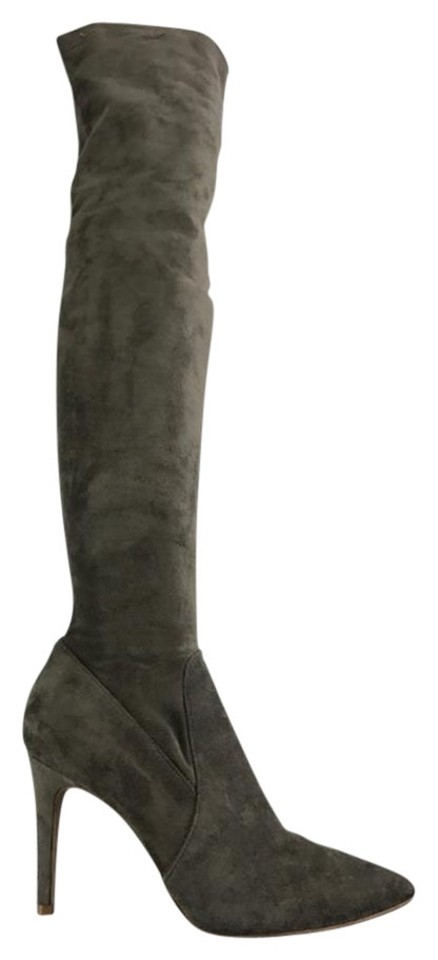 Joie Knee Gray Suede Over The Knee Joie High Boots/Booties 4f8e09