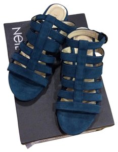 Neil Barrett petrol Sandals