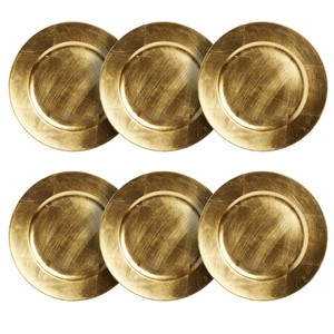 """13"""" Decorative Gold Charger Plates"""
