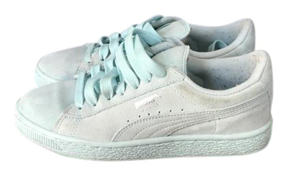 wholesale dealer b7f0e 5dfab Puma Clear Water/ Silver Suede Classic Jr. Sneakers Size US 4 Regular (M,  B) 51% off retail