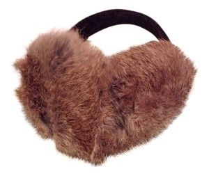 Surrell Rabbit Fur Earmuffs w/ Velvet Band