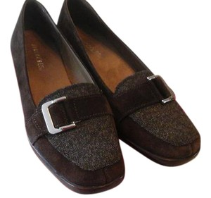Aerosoles Casual Comfortable Wedge Brown and Tweed Flats