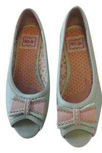 Bettie Page Vintage Mint green Flats