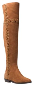 Michael Kors Suede Leather Riding Brown Boots