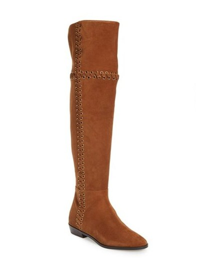 Michael Kors Suede Leather Riding Brown Boots Image 1
