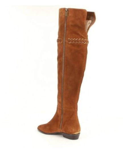 Michael Kors Suede Leather Riding Brown Boots Image 3
