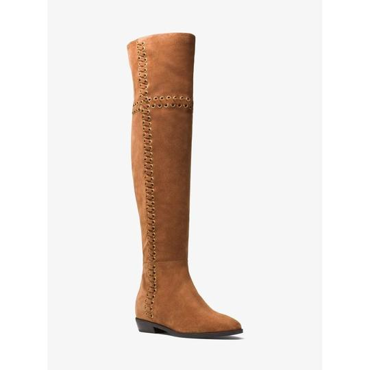 Michael Kors Suede Leather Riding Brown Boots Image 6