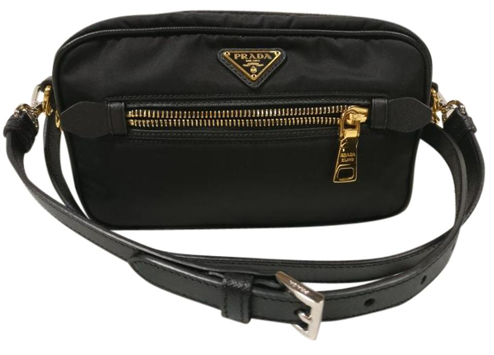71a9c821f5f540 Prada Bt0773 Tessuto Nylon Black Canvas Cross Body Bag - Tradesy