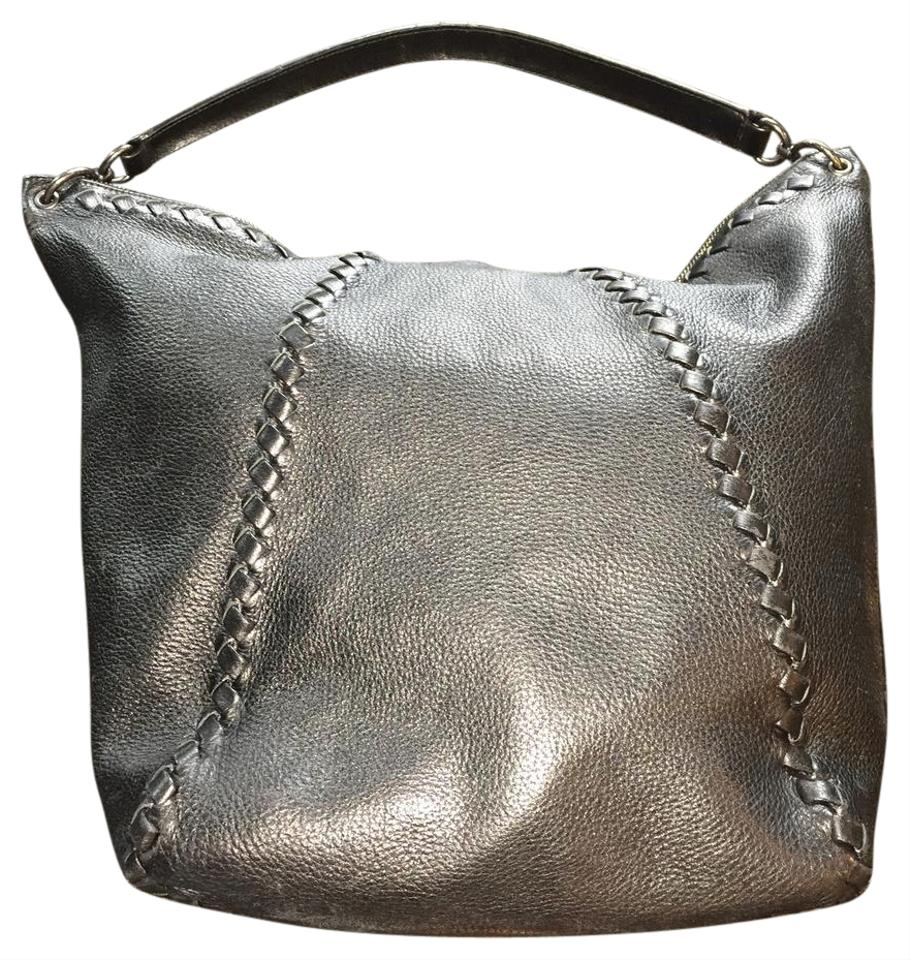 f8fc198909 Bottega Veneta Nero Cervo Large Intrecciato Braided Woven Handle Shoulder  Black Deerskin Leather Hobo Bag