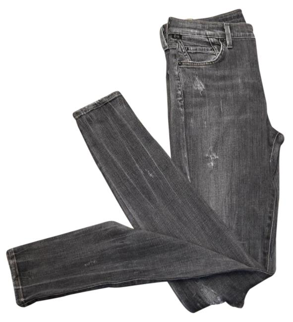 Item - Gray Distressed Rocket High Rise Skinny Jeans Size 27 (4, S)