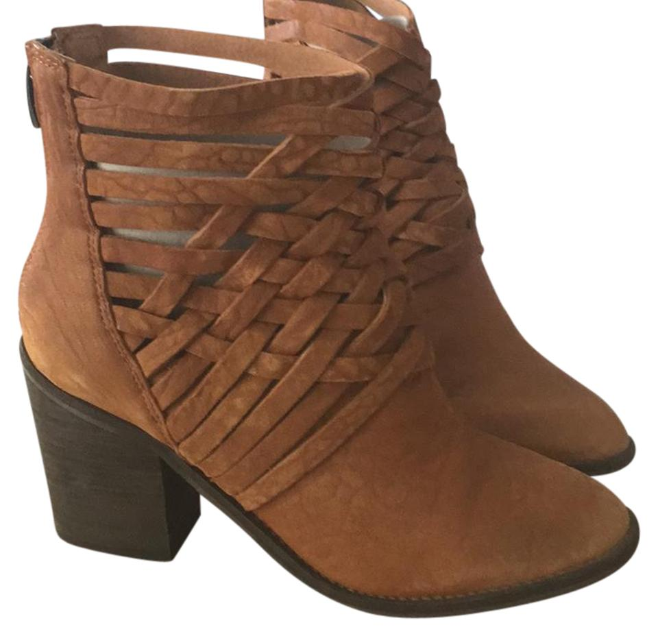 Free People People Free Vintage Tan Braided Boots/Booties 5b6a60