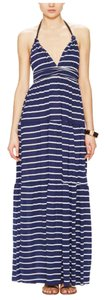navy & white Maxi Dress by T-Bags Los Angeles
